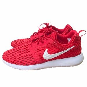 Nike Roshe One Flight Weight Sneakers Red size 4.5